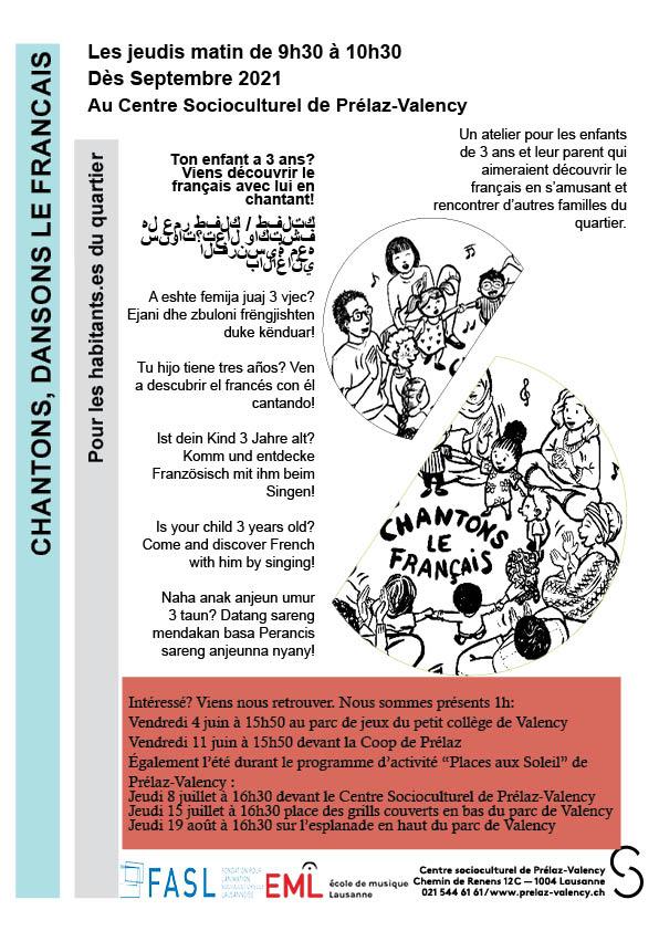 Affiche Chantons dansons le français