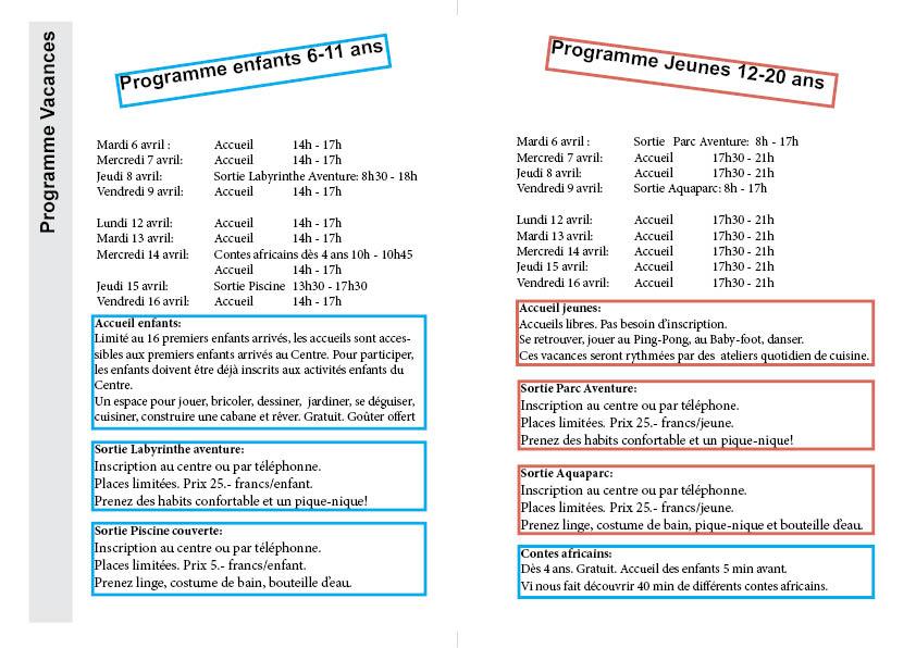 Programme Vacances de Pâques 2021 fin2