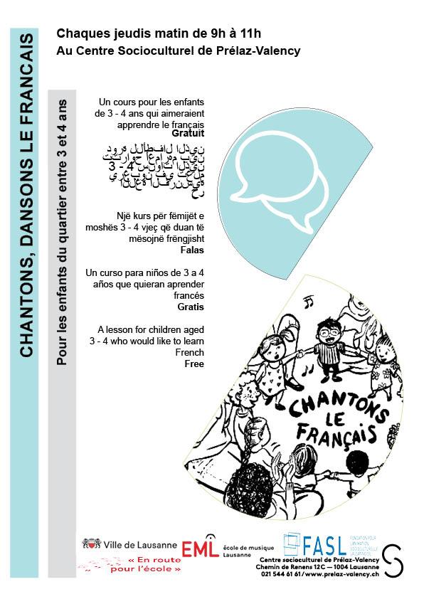 Nouvelle affiche chantons dansons le Français